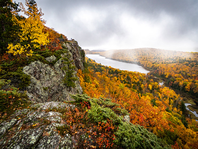 Snow Showers Over Lake of the Clouds By James Galbreath, Award, POM  Large Color B