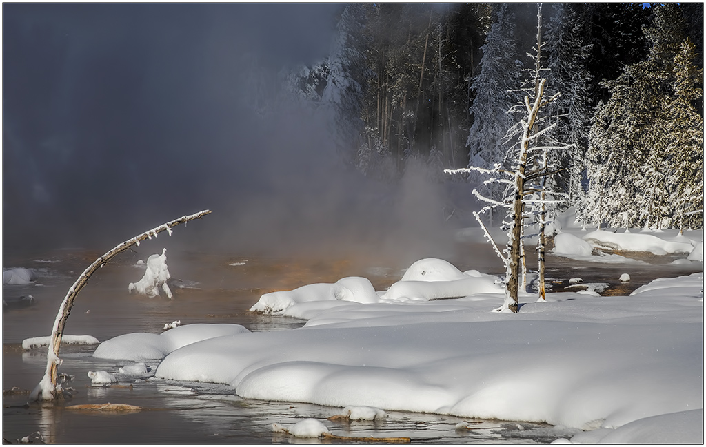 Steamy  Snowscape