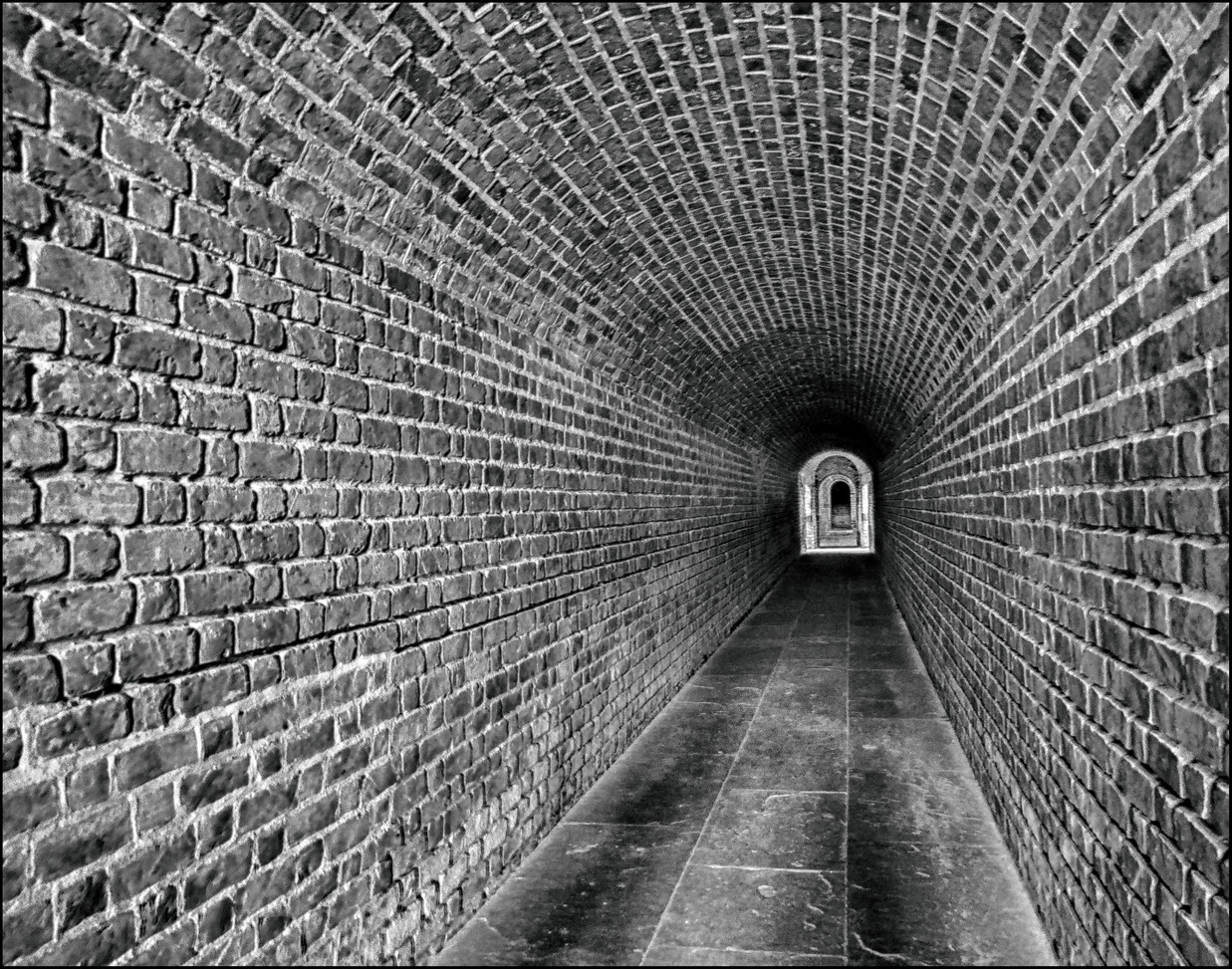 Beneath Fort Clinch  By Dave Ducommun   Award POM Large Mono B