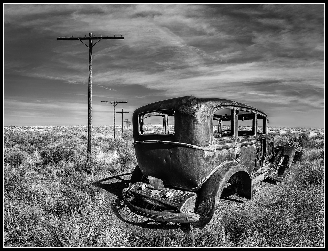 End of the Road By Chris Foley Award Large Mono A
