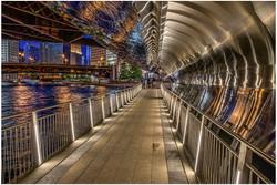 Chicago Riverwalk Bridge