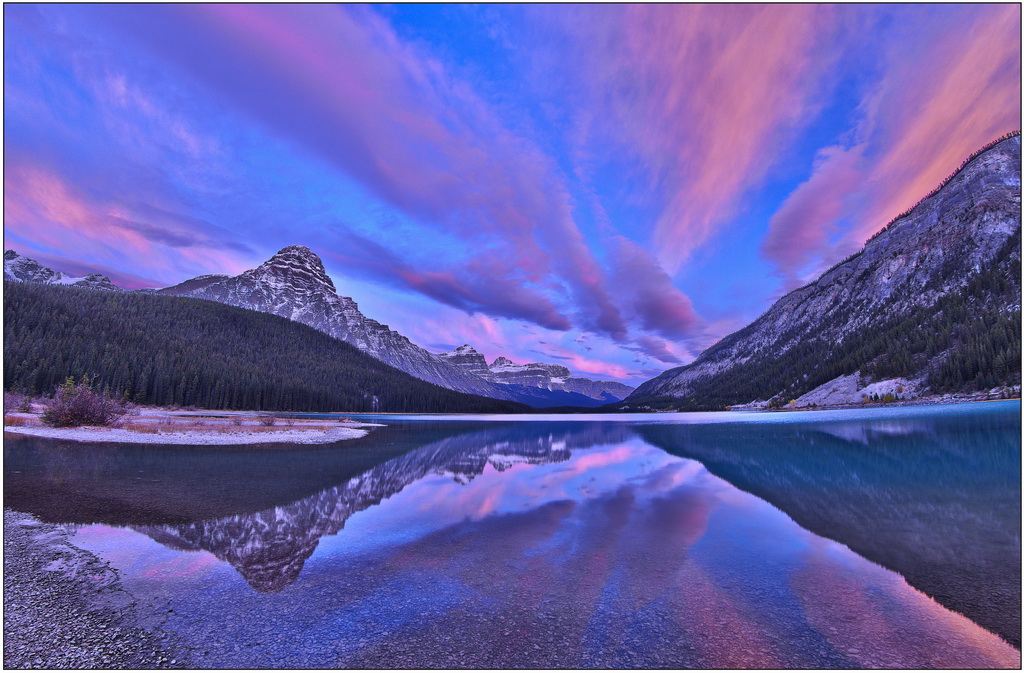 Waterfowl Lake Sunrise