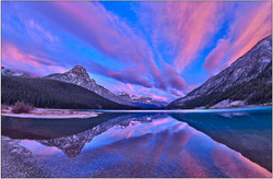 Waterfowl Lake Sunrise