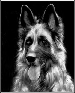 Oil Painting in Monochrome