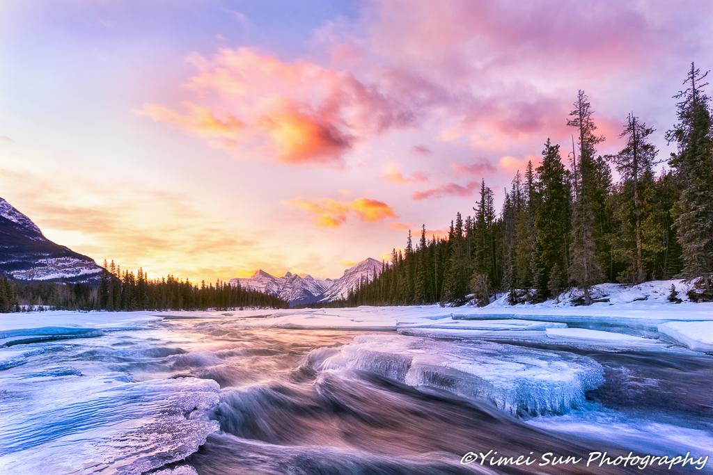 Sunrise in Jasper National Park