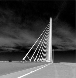 Driving on Sunshine Skyway Bridge