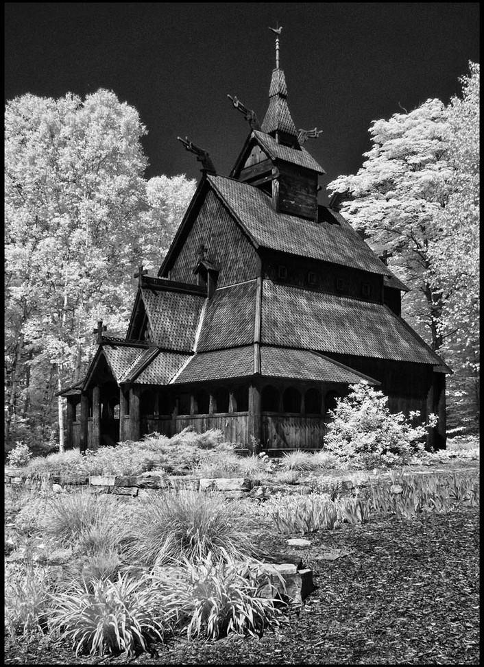 Nordic Church By Judy Falout  HM Small Mono Class A