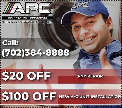 appliance, a/c, heater, fireplace repair in las vegas