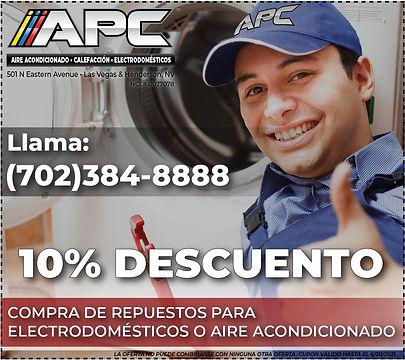 refacciones de electrodomésticos, aire acondicionado, calefacción y chimaneas