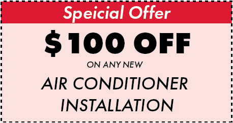 $100 off new air conditioner installation