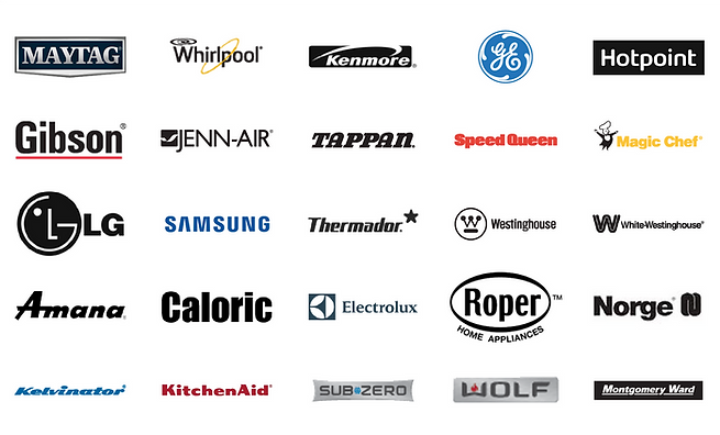 we carry parts and provide service for all major appliance brands