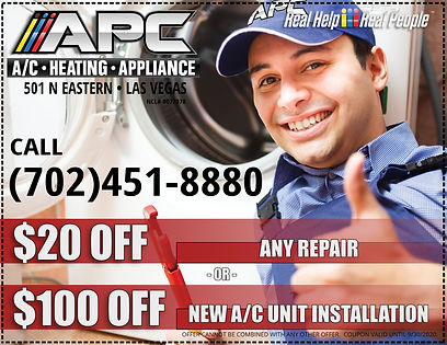 appliance service coupon las vegas