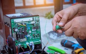 A Technician assembling motor  system an