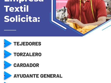 Empresa Textil Solicita: