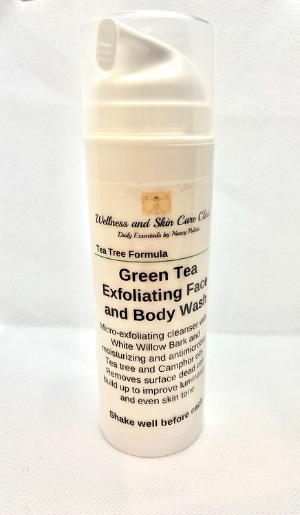 Green Tea Exfoliating Face and Body Wash