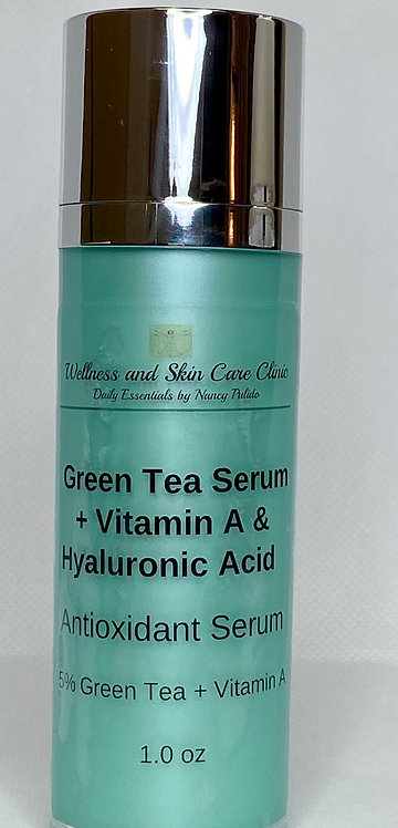GreenTea Serum+ Vitamin A and Hyaluronic Acid