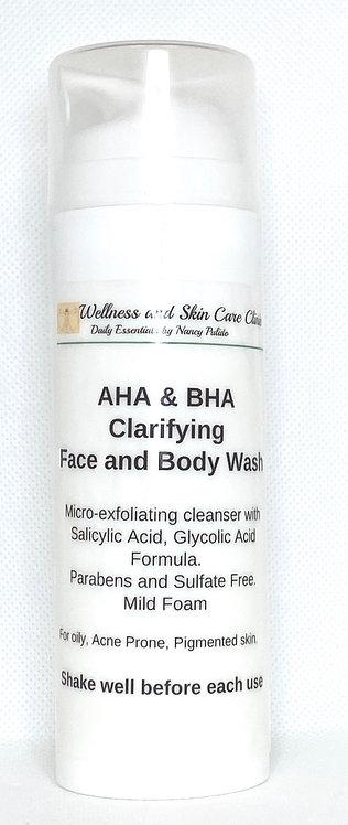 AHA & BHA Clarifying Face and Body Wash