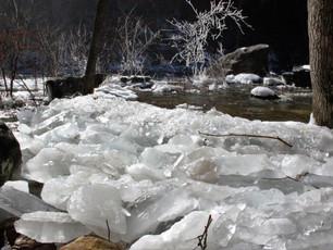 Ice Dams at Profile Falls, Hill, NH