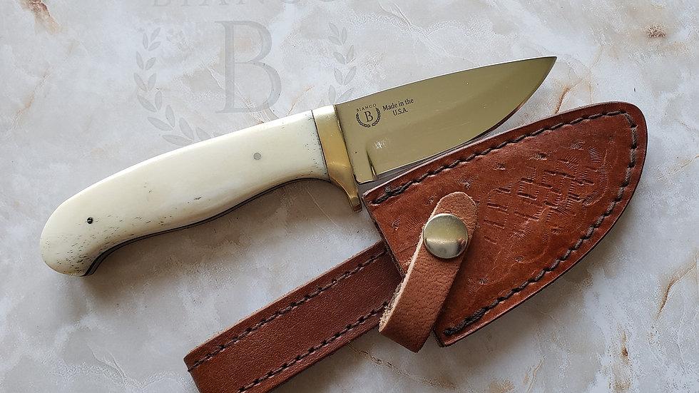 """Bianco Custom 7.5"""" Bone Handle Hunting Knife"""