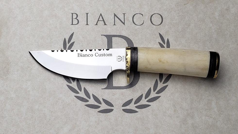 """Bianco Custom 4"""" Blade Bone Handle Hunting Knife"""