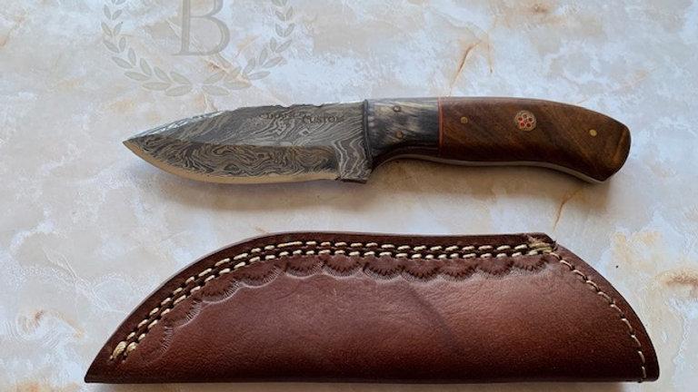 """BI-84102: Custom 8"""" Damascus Steel Knife"""