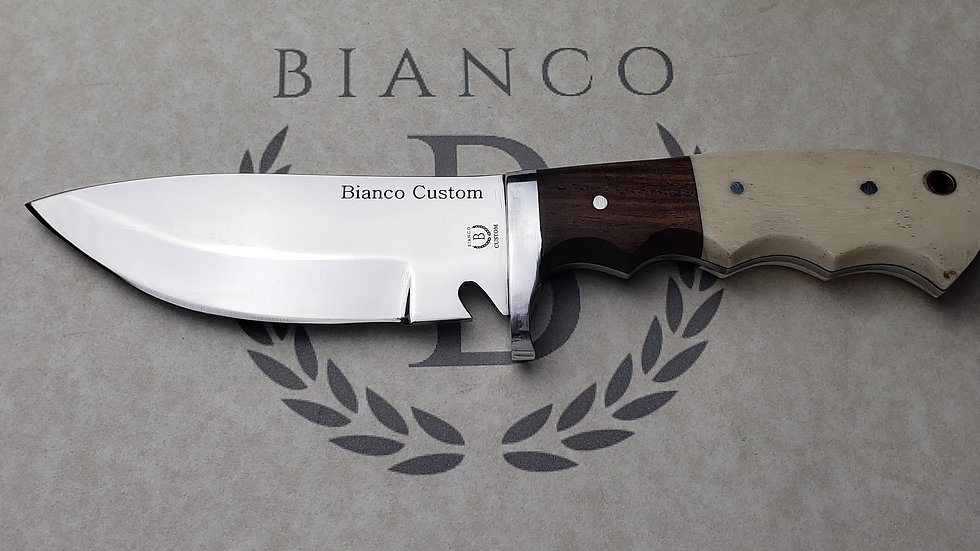 """Bianco Custom 4.5"""" Blade Bone Handle Hunting Knife"""