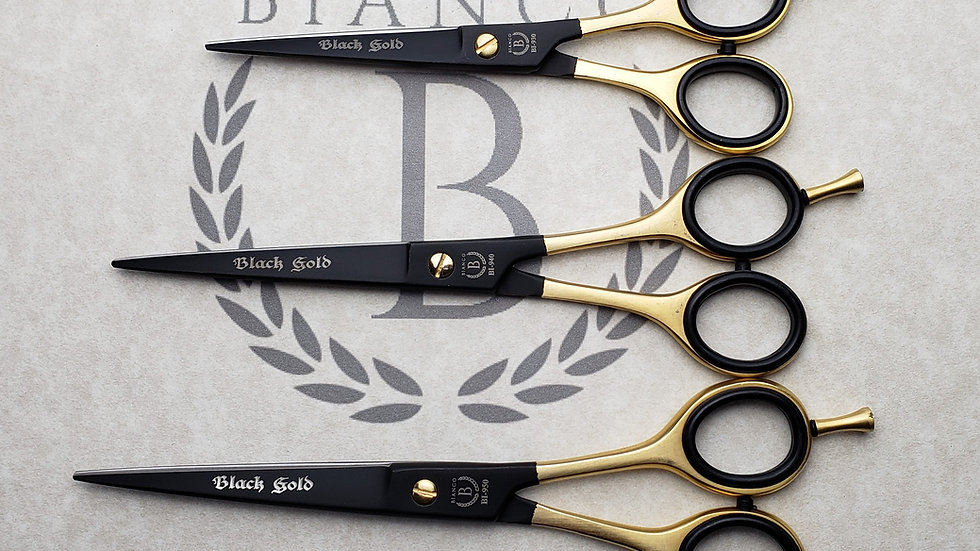 """Black Gold Barber's Shear Available In 6""""- 7""""and 7.5"""""""