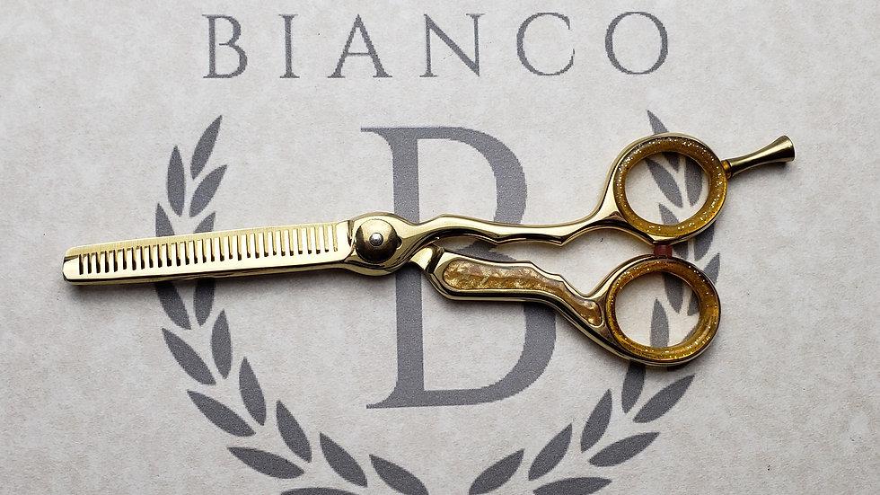 """Bianco Custom 6"""" Golden Inlay Thinning Shear"""