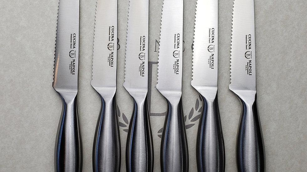 Cucina Napoli Hand Sharpened Steak Knives