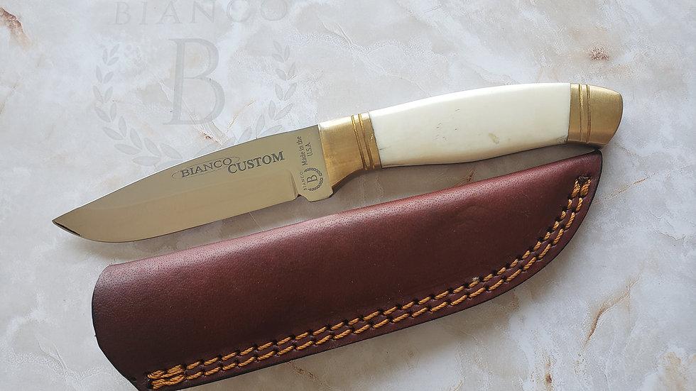 """Bianco Custom 8.25"""" Bone Handle Hunting Knife"""