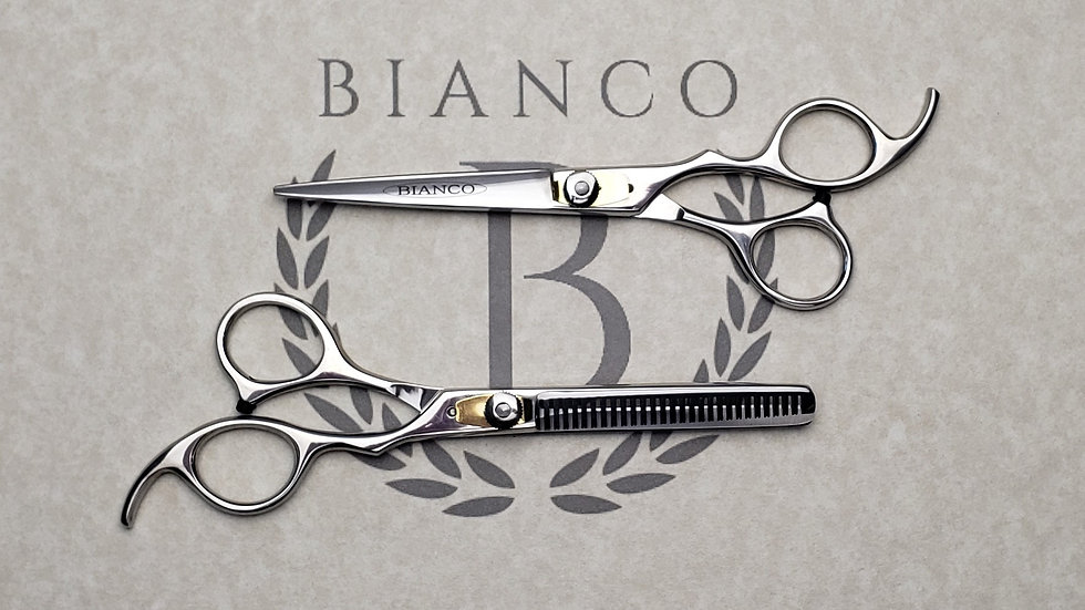 "Bianco Custom 6"" Gold Lock Thinning and Cutting Set"