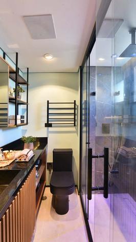 Banheiro Suite - Entrada - Reforma Bersouza Engenharia