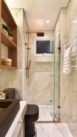 Banheiro Social - Rosé - Reforma Bersouza Engenharia