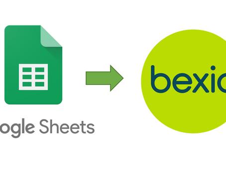 Buchen in einer Tabelle (Google Sheets to bexio) ⏏️