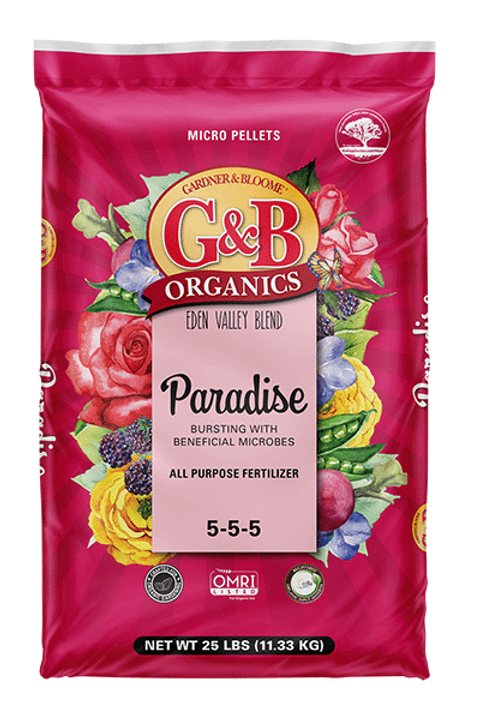 G&B Organics Eden Valley Blend Paradise All Purpose Fertilizer (5-5-5)