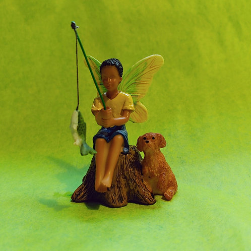 Figurine - Fairy Boy Fishing