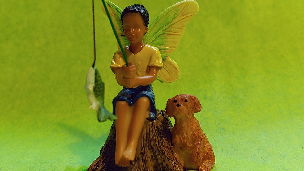 Figurine - Fairy Boy Fishing