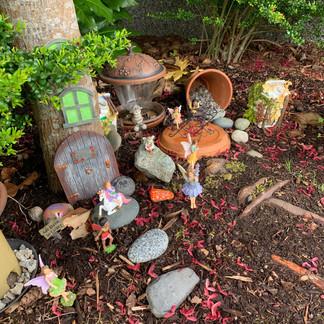 Julianna and Eden's Fairy Garden