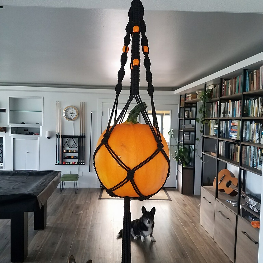 CLASS IS FULL! Learn To Tie And Knot Your Own Macrame Pumpkin or Plant Hanger.