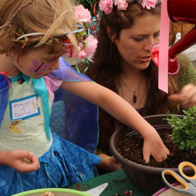 Fairy Planting Fairy Garden