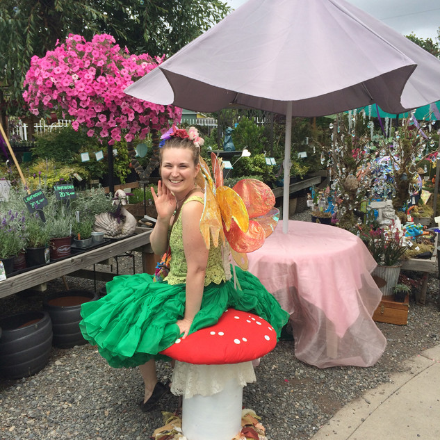 Fairy Queen on toad stool