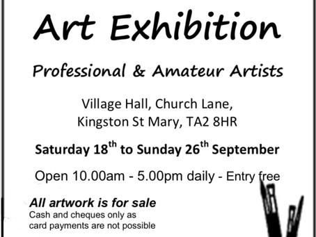 Kingston St Mary Art Exhibition 18th - 26th September 2021