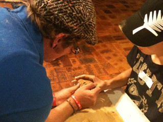 Making Ocarinas at Cobb and Co Museum's Have a Go Festival in Toowoomba
