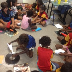 Mornington Island concert support and classroom workshops