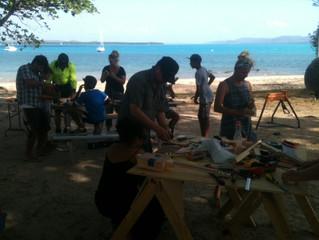 Ukuleles, Ocarinas, Seed Bombs, Microbat Boxes - Workshops on TI.
