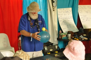 Rubber Science and Astronomical Science at Woodford Children's Festival Big Ideas tent