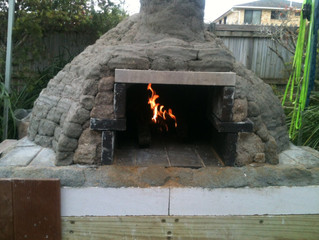 Pizza Oven workshop at B-Space, Ballina then Cooking with a variety of Fires.
