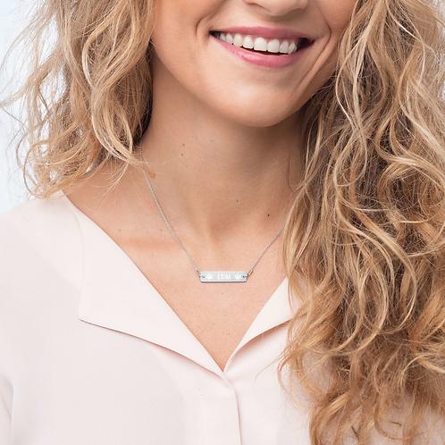 DW - EDM Silver Bar Chain Necklace