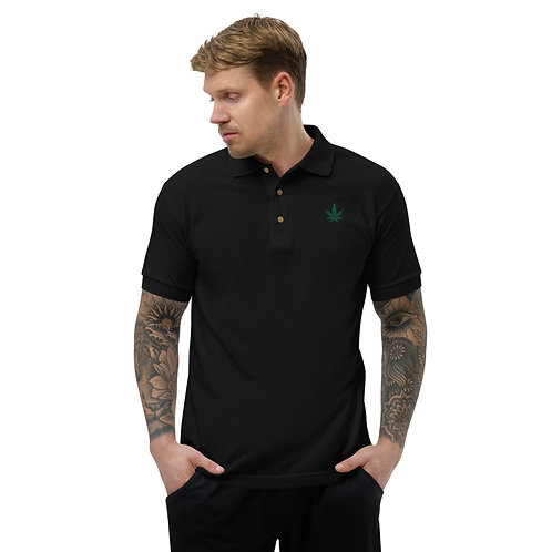 DW - (Weed) Embroidered Polo Shirt