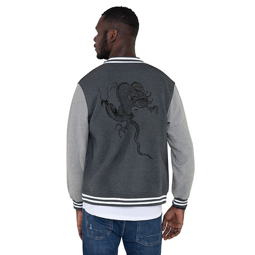 DW - (Dragon) Men's Letterman Jacket